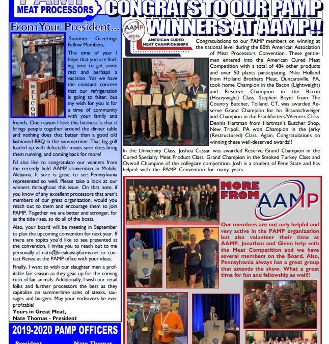 PAMP Newsletter